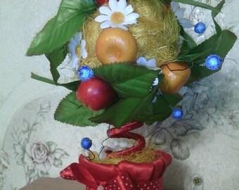 Decorative tree topiary unusual handmade