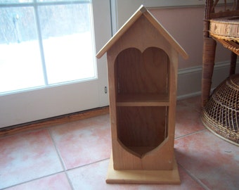 Unfinished Wood Birdhouse Cabinet - New & Ready to Paint
