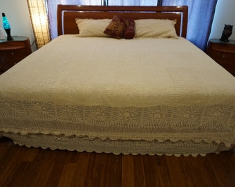King Bed Sheet  and Pillow Cases (two) - Beige