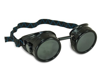 Steampunk Goggles - Base Goggles - Customizable DIY Steampunk Black Welding Cup Goggles - 50mm Eye Cup