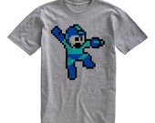 Mega Man Nintendo Gray Tee Shirt Men Women Unisex T-Shirt Size S M L XL