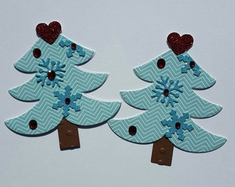 Christmas Tree Gift Tag/Scrapbook Embellishment