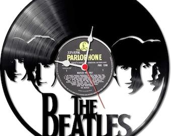 Vinyl Record Clock The Beatles Design