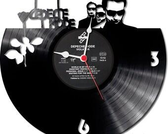 Vinyl Record Clock Depeche Mode Design