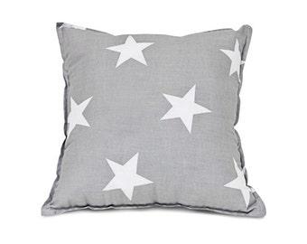 Pillow – Square Stars grey