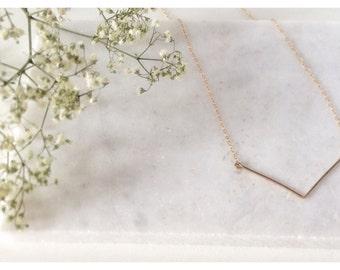 14K Gold Filled  V Necklace,Chevron Necklace,Gold Chevron,Gold Filled necklace,Minimalist Necklace, Geometric Necklace - Gold Chevron