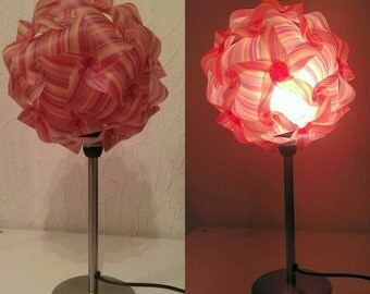 Ball lamp with lamp base in orange-yellow - unique, floor lamp with great ambience
