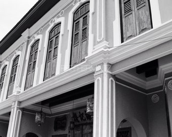 Black and White Photography / Old Window / Window Photography / Home Decor / Digital Art / Colonial House / Digital Download