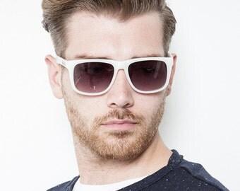 "Matt-White Sunglasses - ""Dalston"" by RUKU Empire"