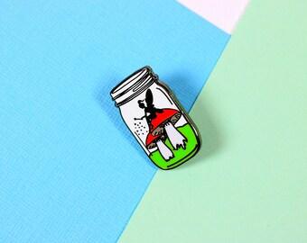 Fairy in a Bottle Enamel Pin with clutch back // EP120