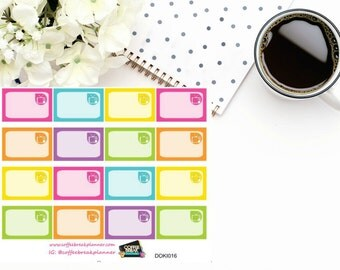 TV Reminder Assorted Rainbow Colored 1/3 boxes for Doki Discagenda| Planner Stickers| Dokibook Discagenda| Personal Planner| DOKI016