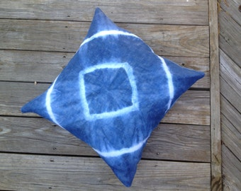 Indigo dyed pillow cover and insert