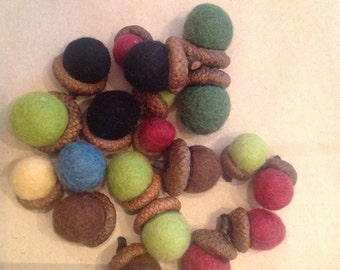 RESERVED.  Felted Acorns