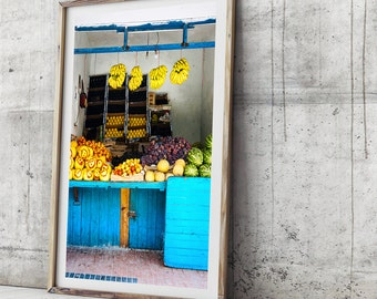 Morocco Art Print - Fruit Stall, Essaouira, Photographic Art, Wall Art, Photographic Print, Travel Photography, Moroccan Decor, Beach Print