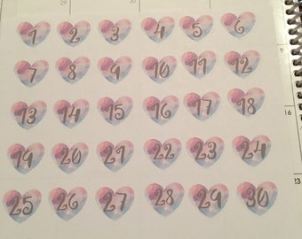 Inspire and Dream Collection  - Heart Day Numbers