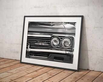 Chevrolet Photography - Chevrolet Photograph - Chevy Impala - Chevrolet Bowtie - Car Photography - Man Cave Decor - Classic Car Photography