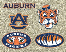 University of Auburn Tigers Alabama State Football Logo Cutting File Set in Svg, Eps, Dxf, Jpeg for Cricut and Silhouette