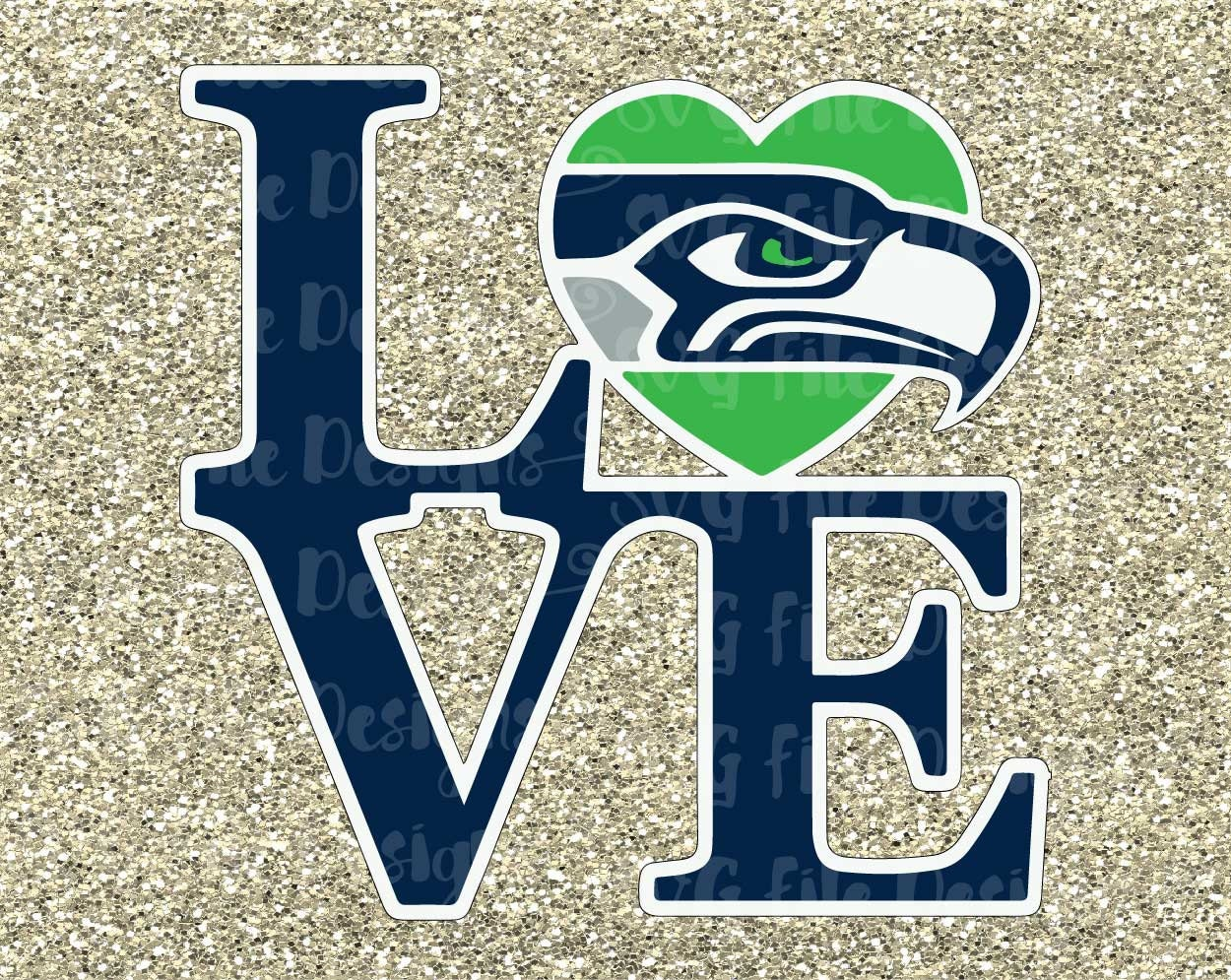 Seattle Seahawks Chevron Printed Acrylic Team Color Logo