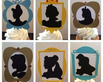 Princess silhoutte cupcake toppers