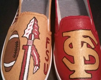 Florida State Seminoles Hand Painted Shoes