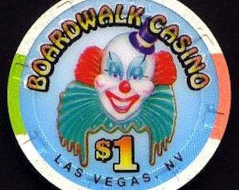 Boardwalk Casino 1 dollar poker casino chip - Las Vegas Strip