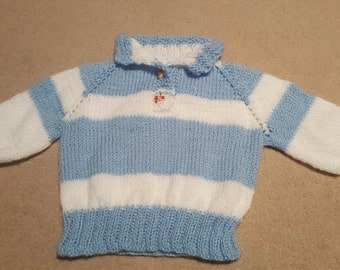 Hand Made knitted baby jumper
