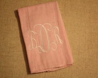 Monogrammed Babies Diaper Burp Cloth