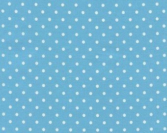 Timeless Treasures Polka Dot Basic - Aqua - 1/2 yard