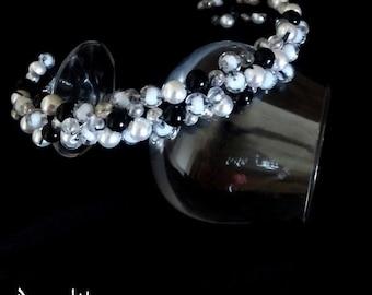White Black crown tiara hair accessory white with a black hat black and white hat white tiara headband Fashion