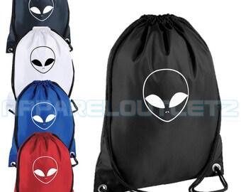 alien drawstring backpack bag rucksack gym sports travel ufo swag dope hipster trend fashion new tumblr spaceship unisex