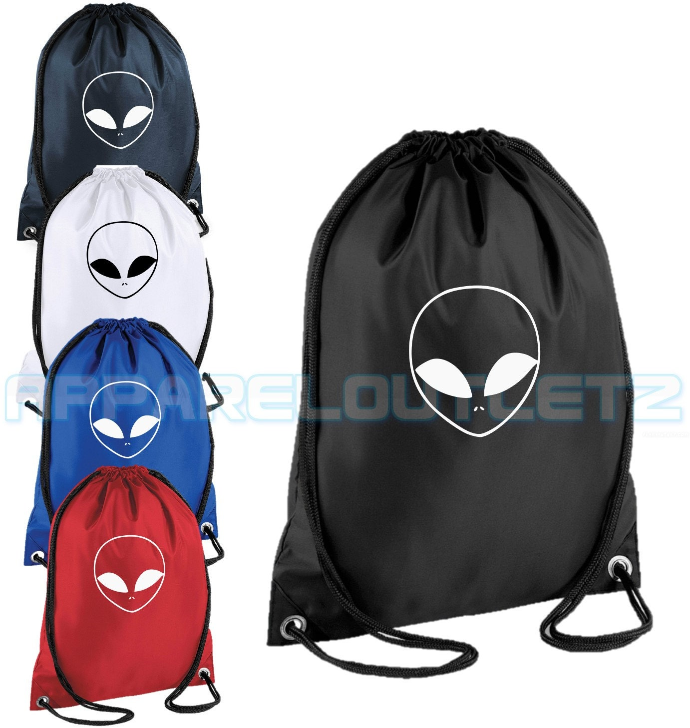 alien drawstring backpack bag rucksack gym sports travel ufo swag dope  hipster trend fashion new tumblr 3617ad3bf4327
