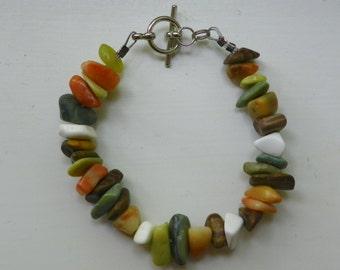 Mixed Stone Chip Bracelet
