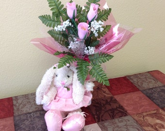 Ballet Bunny and Pink chocolate roses