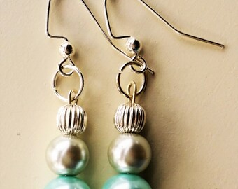 Powder Blue Pearl Earrings