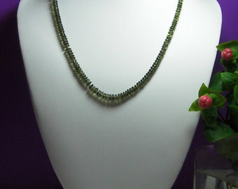 Moldavite Necklace AAAAA 4.5-6mm 18inch 65cts