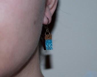 Earrings blue coconut
