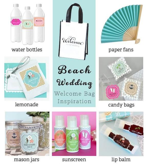 Destination Wedding Gift Ideas: Wedding Welcome Bags Destination Wedding Beach Wedding 12