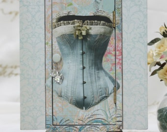 Upcycled Corset Themed Jewelry Box