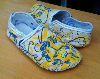 Handprinted, Handsewn Slippers