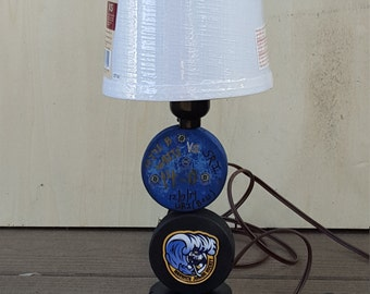 Double Hockey Puck Lamp
