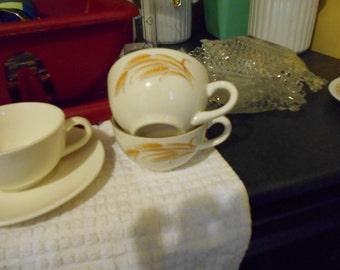 Vintage wheat pattern cups...2