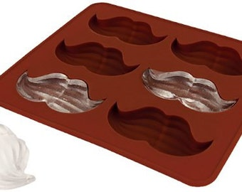 Moustache  TPR Silicone Elastic Rubber DIY Mold to make Soap Candle Chocolate Candy Tray Mold ICE Party maker  mould
