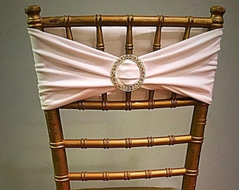 Set of 50 or more Rhinestone chiavari chair band - white (comes in all colors)