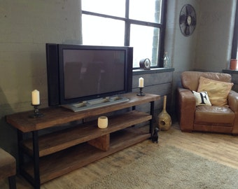 TV/Audio unit/ sideboard.  beautiful reclaimed timber and steel .