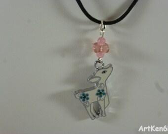 Necklace Girls Fancy floral doe jewelry child