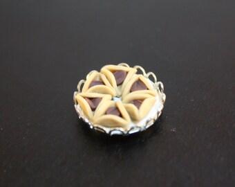 Dollhouse Miniature Handmade Platter of Jewish Hamantaschen Pastries (1/12 Scale)