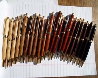 Custom handmade wooden pens and pencils