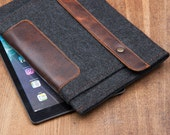 """Dark Felt Amazon Kindle case. Sleeve for kindle paperwhite. Cover for kindle voyage. Leather Cases for kindle fire hd 7"""", 8"""", 10"""""""