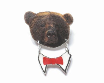 Brooch bear Gentlebär