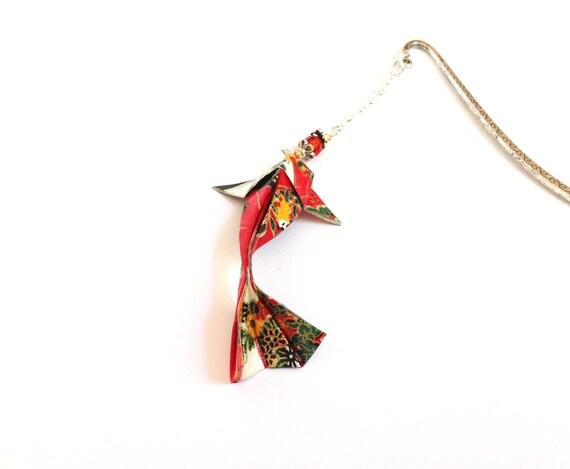 Bookmark origami, Japanese carp, koi paper washi japanese bookmark